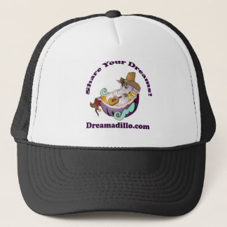Dreamadillo Tex with Guitar with text.jpg Trucker Hat