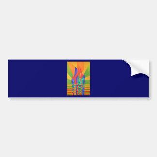 Dreamboat - Cubist Junk In Primary Colors Bumper Sticker