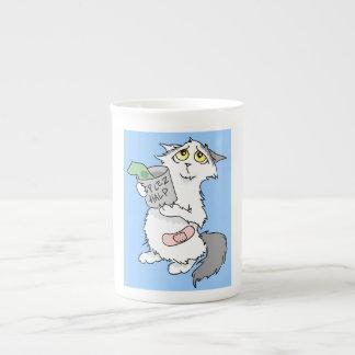 Dreamboat la taza de la porcelana de hueso del gat taza de china
