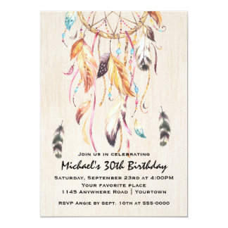 Dreamcatcher Adult Birthday Card