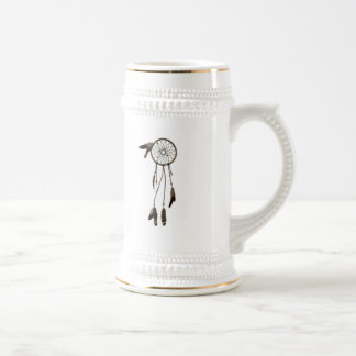 Dreamcatcher and Feathers 18 Oz Beer Stein