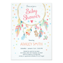Dreamcatcher Baby Shower Invitation Tribal Boho