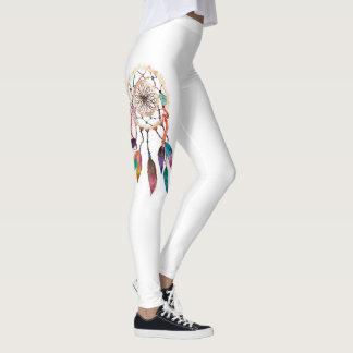 Dreamcatcher bohemio en pintura vibrante de la leggings