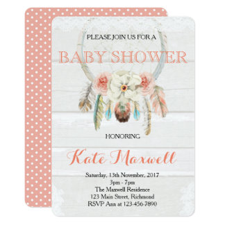 Dreamcatcher Boho Baby Shower Invitation