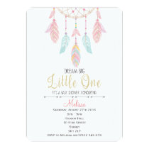 Dreamcatcher Boho Baby Shower Invitation