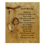 Dreamcatcher de la bendición de Apache Póster