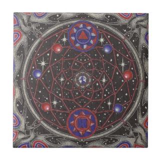 dreamcatcher del espacio interno azulejo cuadrado pequeño