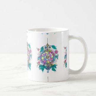 Dreamcatcher fresco y colorido taza