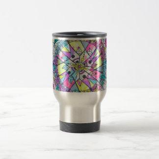 Dreamcatcher fresco y colorido taza de viaje