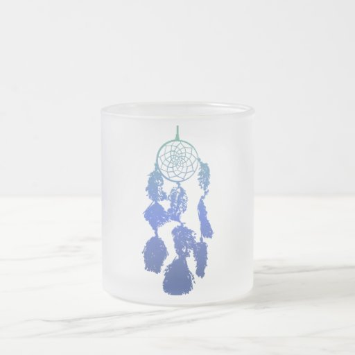 Dreamcatcher Frosted Glass Coffee Mug
