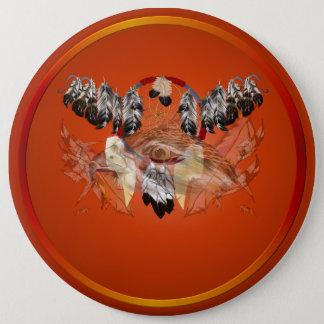 Dreamcatcher Hawk Face Buttons