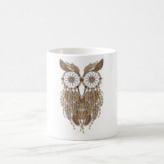 dreamcatcher owl classic white coffee mug