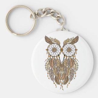 dreamcatcher owl, tribal dream catcher basic round button keychain