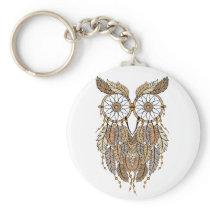 dreamcatcher owl, tribal dream catcher keychain
