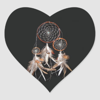 Dreamcatcher Pegatina En Forma De Corazón