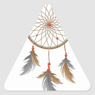 Dreamcatcher Pegatina Triangular
