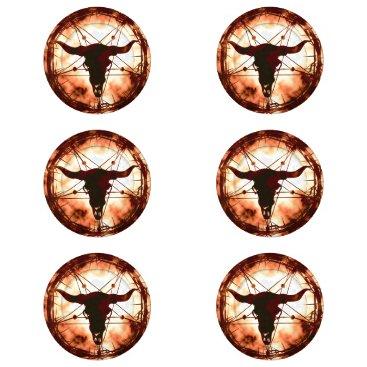 Halloween Themed dreamcatcher - pentagram button covers