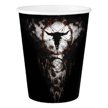 Halloween Themed Dreamcatcher - Pentagram Paper Cup