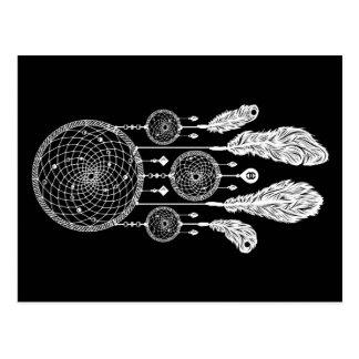 Dreamcatcher - postal (negro)
