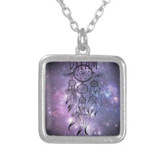 Dreamcatcher Square Pendant Necklace
