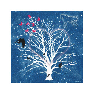 DreamCatcher Tree Gallery Wrapped Canvas