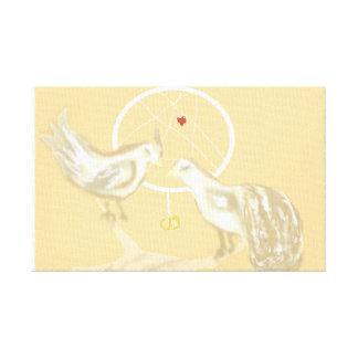 Dreamcatcher w/ Love Birds on Canvas