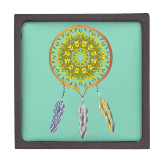 Dreamcatcher with Three Feathers Gift Box