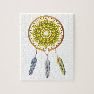 Dreamcatcher with Three Feathers Puzzles