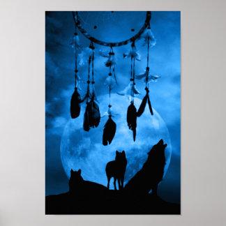 Dreamcatcher Wolves Poster