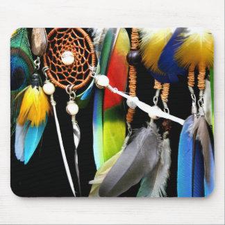 Dreamcatcher y plumas alfombrillas de ratones