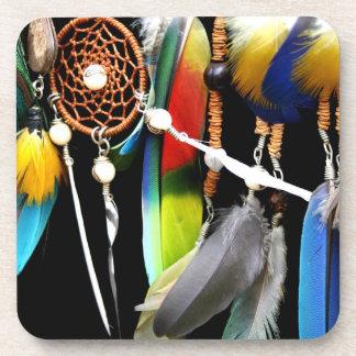 Dreamcatcher y plumas posavaso