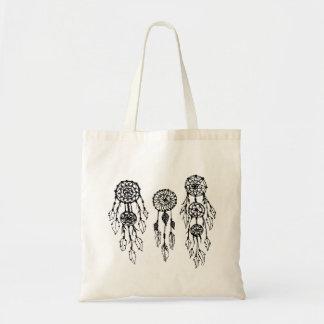 Dreamcatchers bohemio ilustrado lindo bolsa tela barata
