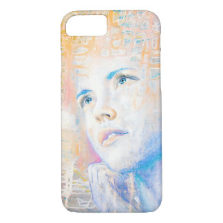 Dreamer | colorful art portrait painting of girl iPhone 8/7 case
