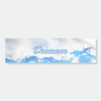 Dreamer Puffy White Clouds and Blue Sky Bumper Sticker