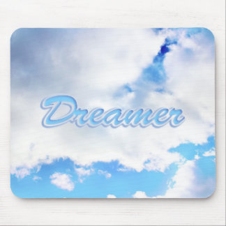 Dreamer Puffy White Clouds and Blue Sky Mouse Pad