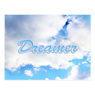Dreamer Puffy White Clouds and Blue Sky Postcard