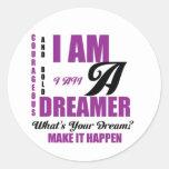 Dreamer Round Sticker