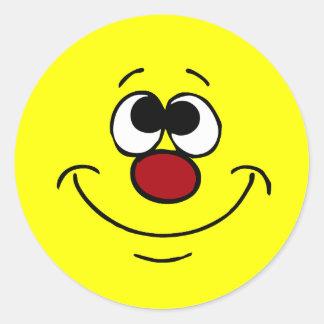 Dreamer Smiley Face Grumpey Classic Round Sticker