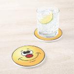Dreamer Smiley Face Grumpey Drink Coasters