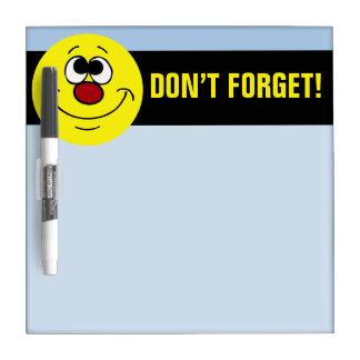 Dreamer Smiley Face Grumpey Dry-Erase Board