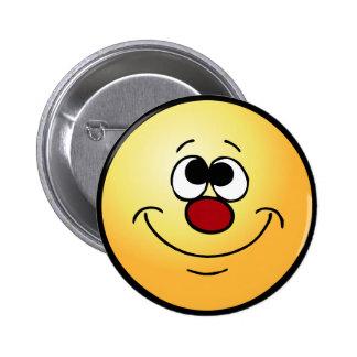 Dreamer Smiley Face Grumpey Pinback Button