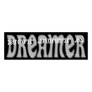 Dreamer - Social Media Personal Card Double-Sided Mini Business Cards (Pack Of 20)
