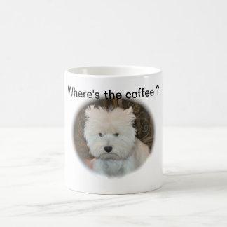 Dreamer the pesky westie coffee mug