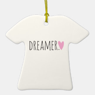 Dreamer with Heart Christmas Tree Ornaments
