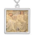 Dreamers by Albert Joseph Moore, Victorian Art Necklace