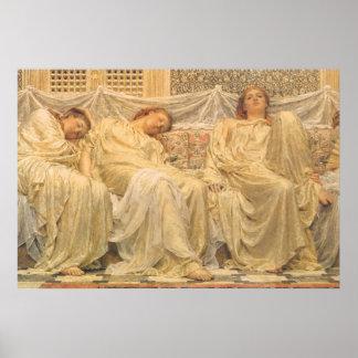 Dreamers by Albert Joseph Moore, Victorian Art Poster