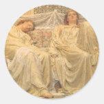 Dreamers by Albert Joseph Moore, Victorian Art Round Sticker