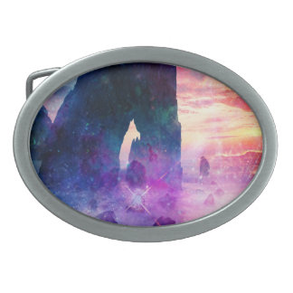 Dreamer's Cove Oval Belt Buckle