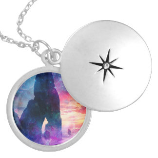 Dreamer's Cove Round Locket Necklace