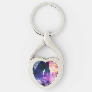 Dreamer's Cove Silver-Colored Heart-Shaped Metal Keychain